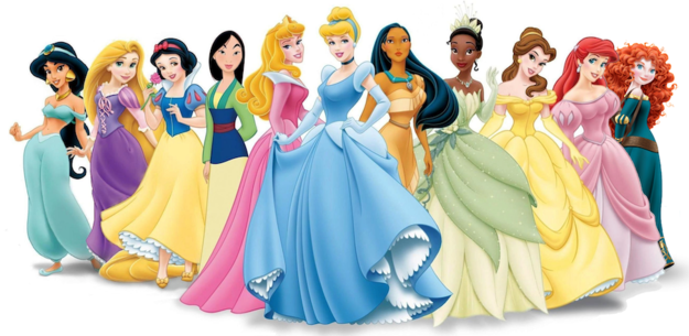 [Image of Disney princesses]