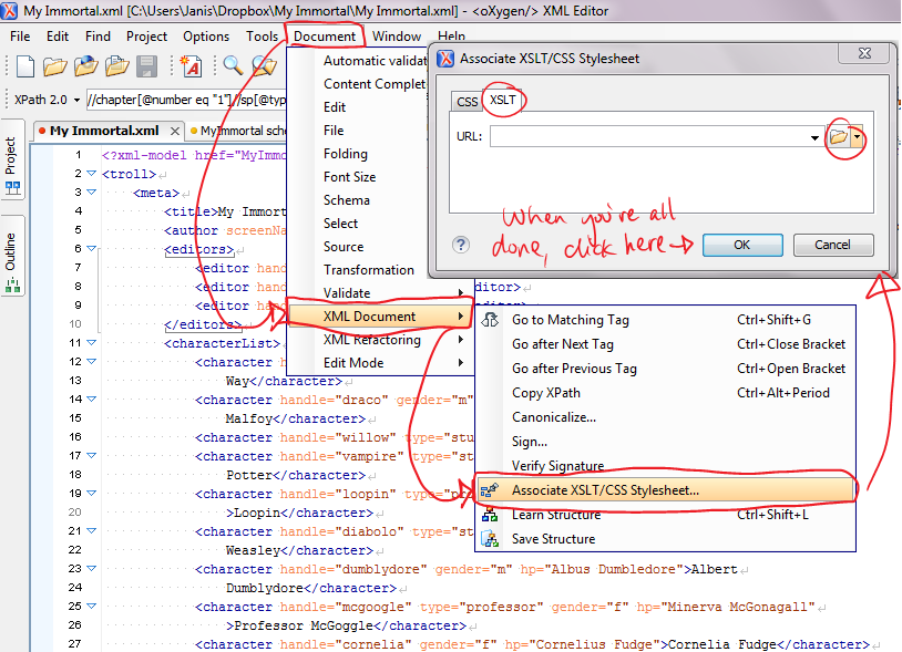 Transforming XML with XSLT